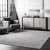 nuLOOM Ripple Contemporary Sherill Area Rug, 5' x 8', Grey, Gray