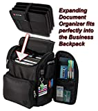 Zuca Business Backpack with Protected Laptop Compartment and Removable Expanding Document Organizer (Black)