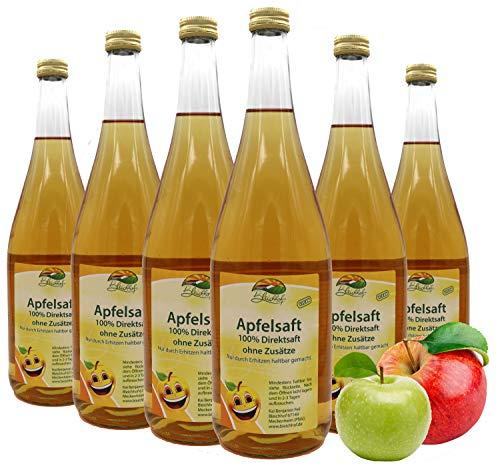 Bleichhof Apfelsaft klar - 100% Direktsaft, naturrein und vegan, OHNE Zuckerzusatz, 6er Pack (6x 0,95l)