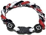 Sport Ropes 3 Rope Titanium Bracelet (Red/Black/White, 8')