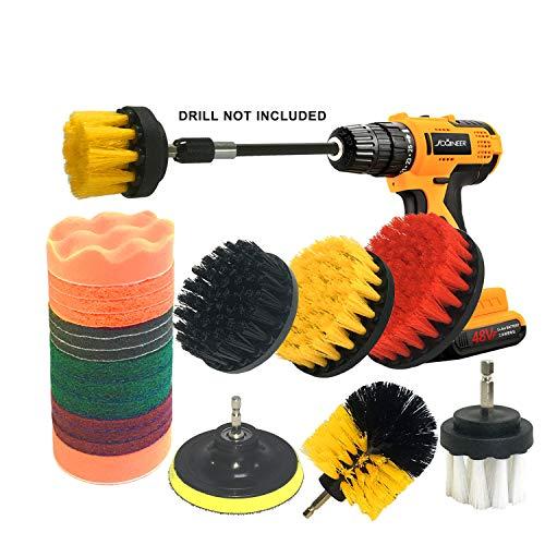 JOQINEER Set di accessori per spazzola da trapano da 22 pezzi, kit di spazzole per trapano,...