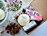 Christmas Self Care Spa Gift Set, with Deluxe Aromatherapy Bath Bombs, Travel Soap and Lip Balm, Special, Unique, Relaxing and Handmade Made in USA for Wife, Mom, Sister, Aunt and Friend, 100% Natural