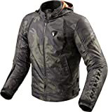 Revit Flare Motorcycle Jacket Army Green, S