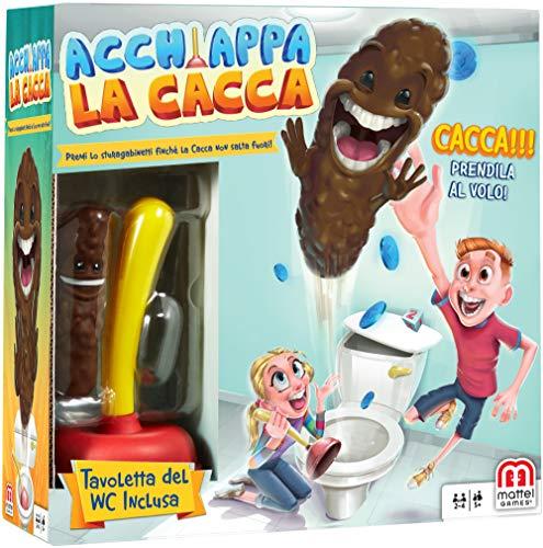 Mattel Games, Acchiappa la Cacca con Toilet Incluso, Gioco da Tavolo per Bambini 5 + Anni, FWW30, Multicolore