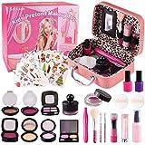 Satkago Maletin Maquillaje Niñas,Simulador de Maquillaje,Maquillaje para Niñas Regalo Cumpleaños,Navidad,Juguetes Niña 3 4 5 6años