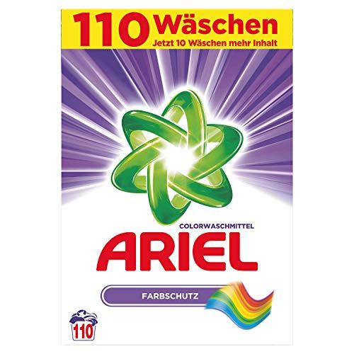 Ariel Colorwaschmittel Pulver Farbschutz, 7,15kg– 1er Pack (1 x 110 Waschladungen)