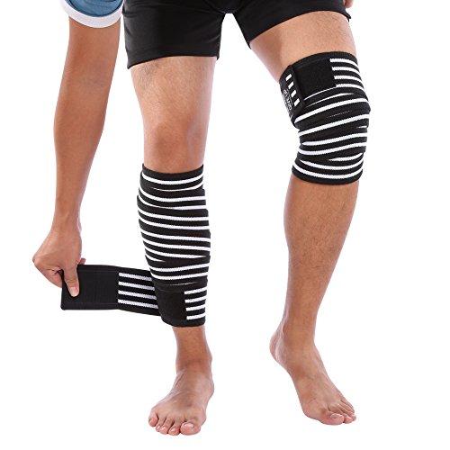 Fascie Ginocchia Fascia Palestra Elastica Fasce Squat Powerlifting, Knee Wraps Tutore Ginocchio Body...