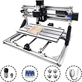 VEVOR CNC 2418 CNC Router Kit 3 Axis CNC Router Machine GRBL Control with ER11 and 5mm Extension Rod for Plastic Acrylic PCB PVC Wood Carving Milling Engraving Machine(240x180mm)