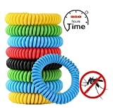 Mosquito Insect Repellent Bracelet 20 Individually Wrapped Bug Repellent Wrist Bands for Kids, Adults, 100% Natural, DEET-Free, NonToxic, Waterproof, Travel Camping Outdoor Indoor 350+ Hrs Protection
