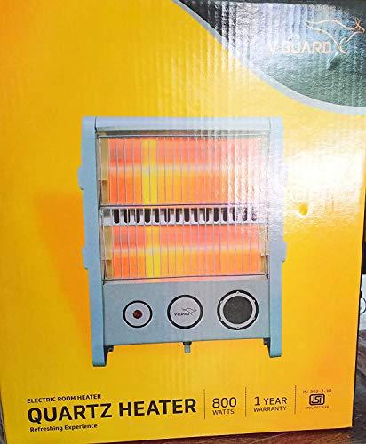 V-Guard Electric Quartz Room Heater (RH2QT-1000, Grey, 800 Watts)