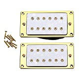 Ammzzoo111 2Pcs Acoustic Guitar Pickup, Double Coil Humbucker Pickup for Epihone Electric Guitar Replacement Part