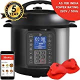 Mealthy MultiPot 9-in-1 Programmable Electric Pressure Cooker with Stainless Steel Pot, Steamer Basket and Instant Access to Mealthy Recipe App. Pressure Cook, Slow Cook, Saute & More (3 litres)