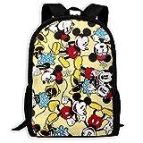 Mic Key Mouse Minnie Anime Laptop Bag Daypack Mochilas Escolares Mochila al Aire Libre para Mujeres Hombres, tamaño 43X28X16Cm