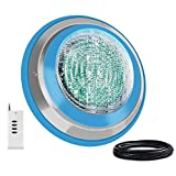 Roleadro Led Pool Lights, Waterproof IP68 47W RGB Swimming Pool Light Multi Color, 12V AC Led Inground Pool Light Control with Remote Controller - 16ft Cord