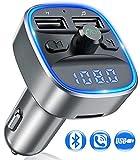 Bovon Transmetteur FM Bluetooth, Kit Voiture Émetteur FM sans Fil Adaptateur...