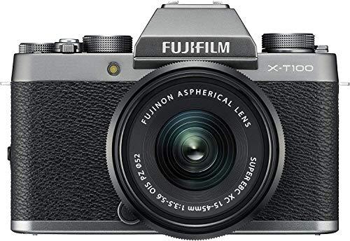 FUJIFILM ミラーレス一眼 X-T100レンズキット ダークシルバー X-T100LK-DS