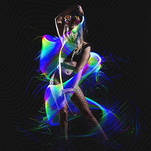 GloFX Space Whip Remix [PROGRAMMABLE LED Fiber Optic Whip] 6 Ft...