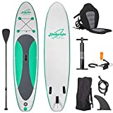 Jiubenju All Around Inflatable Stand Up Paddle Board with Kayak Seat, Supports 308 LBS, 10'6' L x 30' W x 6' Thick Non-Slip Deck, Premium SUP Accessories Includes Aluminum Oar Pump Leash Carry Bag