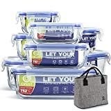[8-Pack+ Lunch Bag Free] Glass...