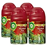 Air Wick Freshmatic Automatic Spray with Refill Air Freshener, Woodland Pine, 4 Count
