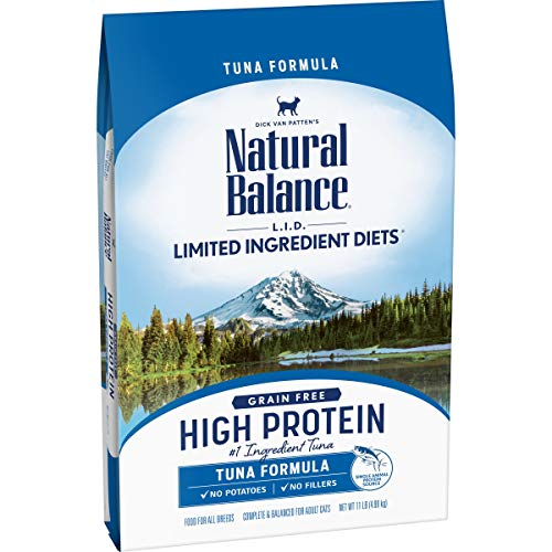 Product Image 1: Natural Balance L.I.D. Limited Ingredient Diets High Protein Dry Cat Food For Adult Cats, Tuna Formula, 11-Pound