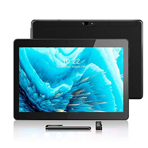 Android Tablet 10,1 Zoll, Android 8.1, Quad Core CPU, Dual SIM Card, 2GB+64GB, IPS HD (1280 x 800), 3G Tablet Pad mit Zwei SIM Kartensteckplätzen, WiFi/WLAN/Bluetooth