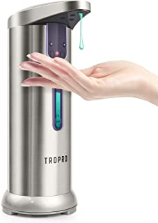 Automatic Soap Dispenser, TROPRO 7.5oz/250ml Sensor Touchless Liquid Soap Dispenser,..