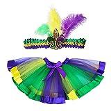 Danballto Mardi Gras Tutu Skirt Costumes for Girls Kids