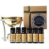 Naissance Difusor de Latón para Aromaterapia y 6 Top Aceites Esenciales Set Regalo con lavanda,...