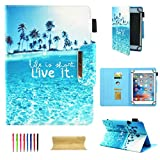 UGOcase 10 Inch Tablet Universal Case, Slim Kickstand Folio PU Leather Wallet Case Cover for Apple iPad 9.7'/iPad Air, Samsung Galaxy Tab, RCA 10 Viking, iRulu & More 10' Tablet, Live it