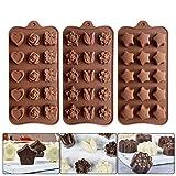 Lot de 3 Silicone Moules à Chocolat, Moules à Bonbon Moules à...