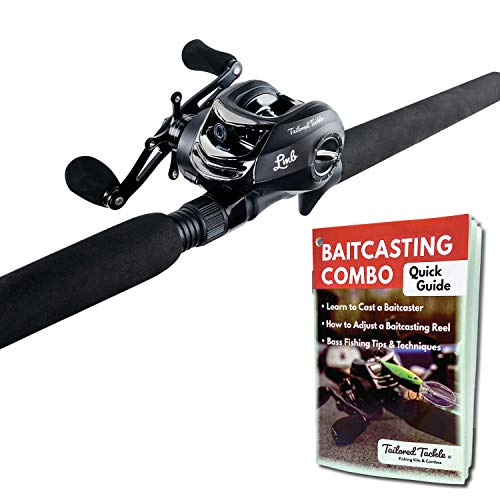 Tailored Tackle Bass Fishing Baitcasting Combo 7 Ft 2 -Piece | Casting Rods Power: Med. Heavy Fast...