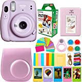 Fujifilm Instax Mini 11 Camera with Instant Film (20 Sheets) & DNO Accessories Bundle Includes Case,...