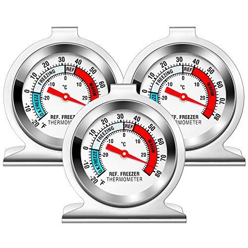 Frigorifero termometro Vintoney in acciaio inox per casa, ristoranti, bar, caffetterie 3 pezzi