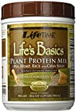 Lifetime Life's Basics Plant Based Protein Powder, Natural Chocolate, 1.22lb