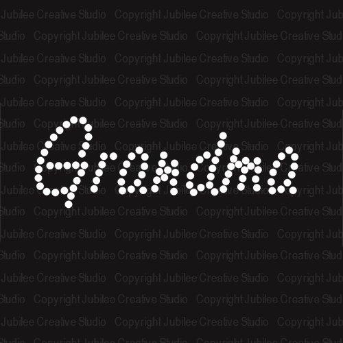 Grandma Iron On Rhinestone Crystal T-shirt Transfer by JCS Rhinestones