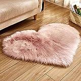 YoYoly Area Rug, Wool Imitation Sheepskin Rugs Faux Fur Non Slip Bedroom Shaggy Carpet Mats