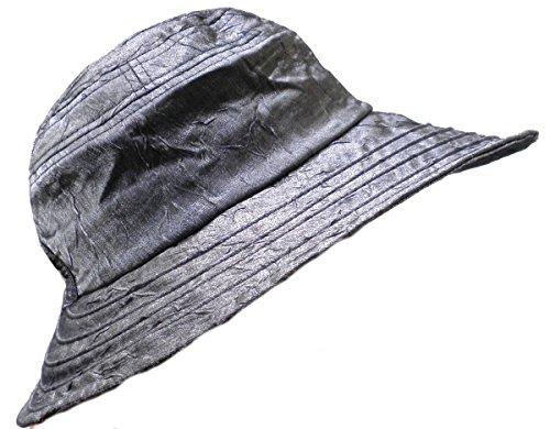 Damenhüte Kofferhut Reisehut Sonnenschutz roll/faltbar (Anthrazit)