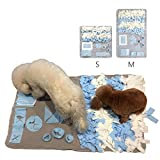 SIZE: About 25.6'' x 25.6'' (65 x 65 cm). Perfect for all dogs, any breed, any age, any size, all dogs and even potbelly pigs will love it! ATTRACTIVE DESIGN: The wooly snuffle mat is not only a feeding mat for dogs, but also a great puzzle toy to ca...