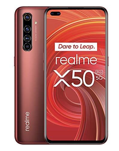 "realme X50 Pro – Smartphone de 6.44"", 8 GB RAM + 128 GB ROM, procesador OctaCore Qualcomm Snapdragon 865 5G, cuádruple cámara AI 64MP, Dual Sim, Rust Red"
