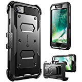 i-Blason Armorbox Case Designed for iPhone SE2 2020 /iPhone 7/iPhone 8, Built in  Screen Protector  Full-Body Rugged Holster Case for iPhone SE 2nd Generation (Black)