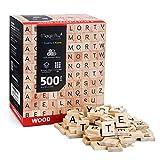 Magicfly 500 Pièces Lettres Tuiles en Bois, Puzzle Alphabets A...