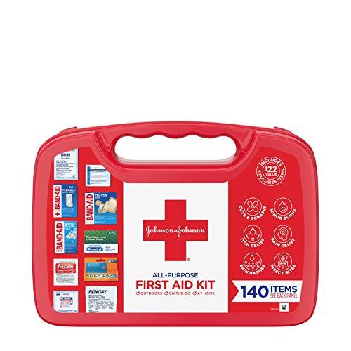 Johnson & Johnson All-Purpose Portable Compact First Aid Kit...