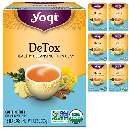 Yogi Tea - DeTox Tea (6 Pack) - Healthy Cleansing Formula With Traditional Ayurvedic Herbs - 96 Tea Bags 1