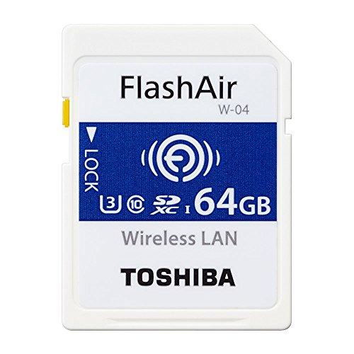 東芝 TOSHIBA W-04 FlashAir Wi-Fi SDXCカード 64GB UHS-1 U3 Class10対応 日本製 並行輸入品