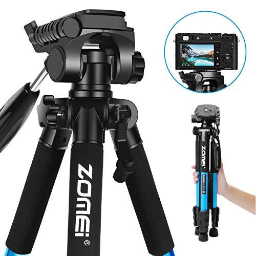 Reise Stativ - ZOMEi Z666 Tragbares Leichtes Stativ Mit Tragetasche für Video DSLR Nikon Canon Sony Digital SLR oder Videokamera 140cm Blau
