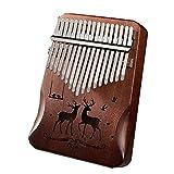 Kalimba 17 Touches, Pouce Piano,Piano à Doigt en Bois Portable RéTro,Cadeaux...