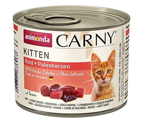 animonda Carny Kitten Katzenfutter, Nassfutter Katzen bis 1 Jahr, Rind +...