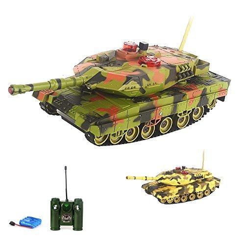 RC ferngesteuerter Kampf Panzer mit Gefechtmodi,Schuss- und Soundsimulation, Beleuchtung,Komplett-Set