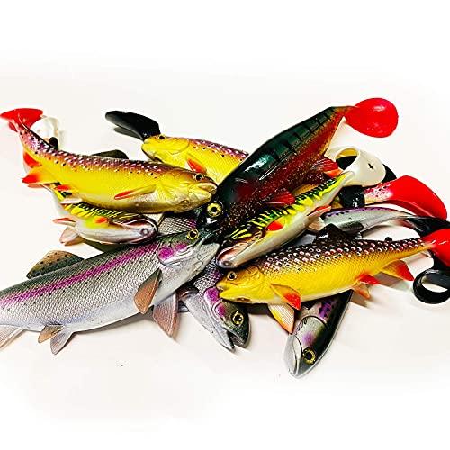 Jackson Set da pesca professionale XXL per luccio di grandi dimensioni, da 18 a 23 cm, 10 pezzi